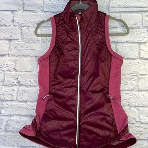 Lululemon Animal Print Stripe Quilted Stretch Vest